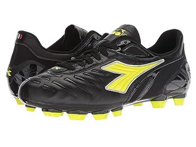 Diadora Maracana 18 (Black/Fluo Yellow) Soccer Shoes