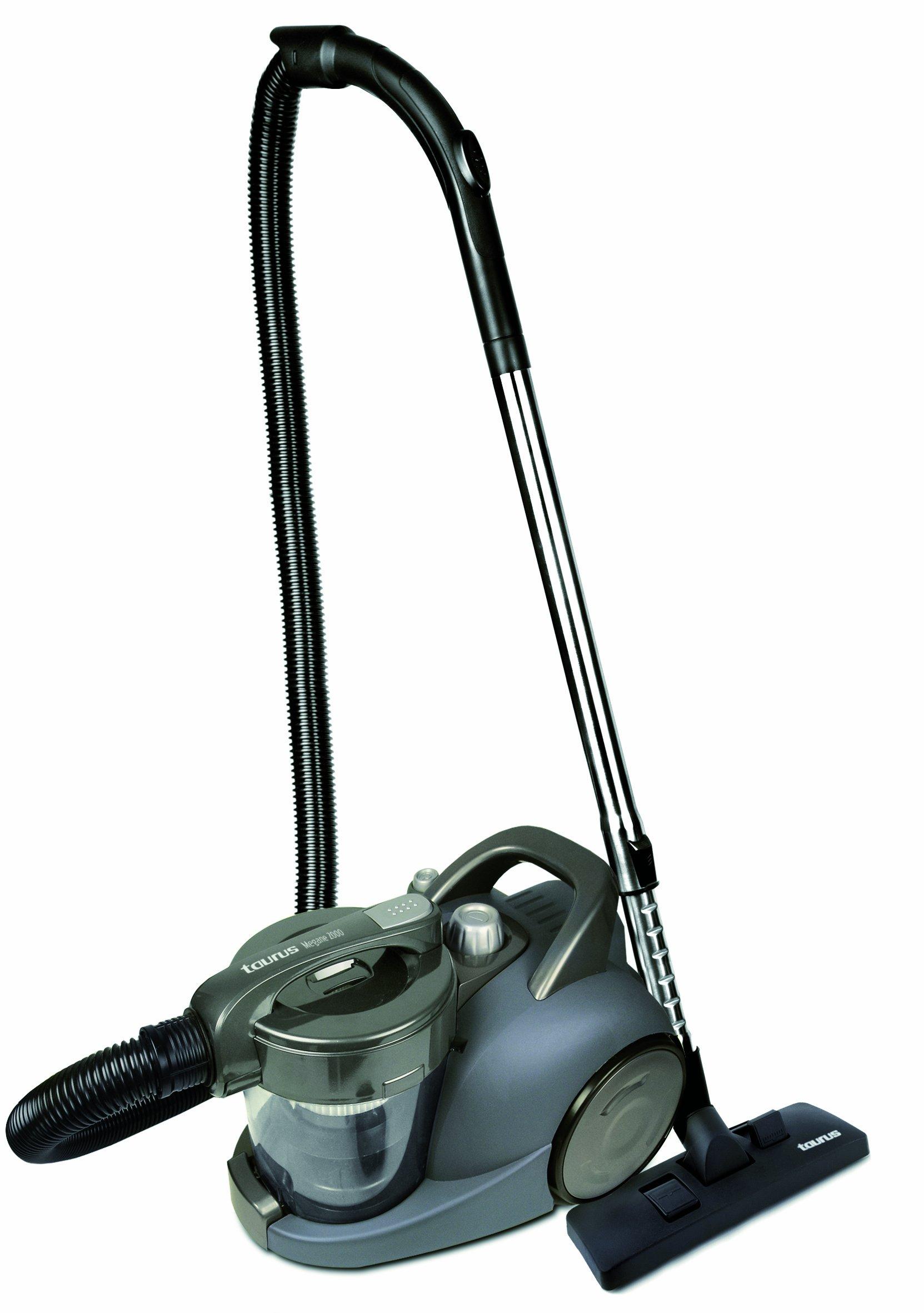 Taurus Megane 2000 Advance - Aspirador, 2000W, sin bolsa, 2.5L, color gris: Amazon.es: Hogar