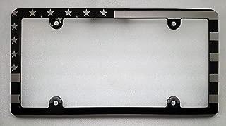 BilletVault American Flag License Plate Frame, Slimline, Black