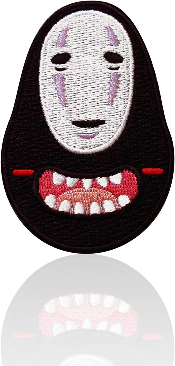 Cheap mail order shopping No Face Patch Iron on Japanese Sew Embroidered Appliq Same day shipping Ghost