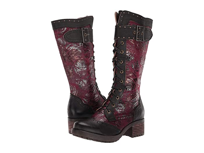 Vintage Boots, Retro Boots LArtiste by Spring Step Kisha Black Multi Womens Boots $142.46 AT vintagedancer.com