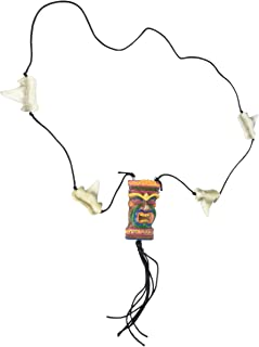 Tiki Necklace w/Shark Teeth Beads Party Accessory (1 count) (1/Card)