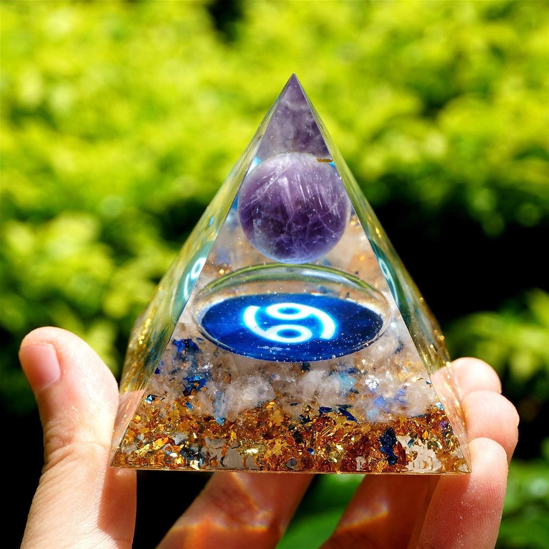 NBKLS Zodiac Amethyst Crystal Sphere Pyramid San Jose Mall Max 43% OFF Geometry wi Pattern