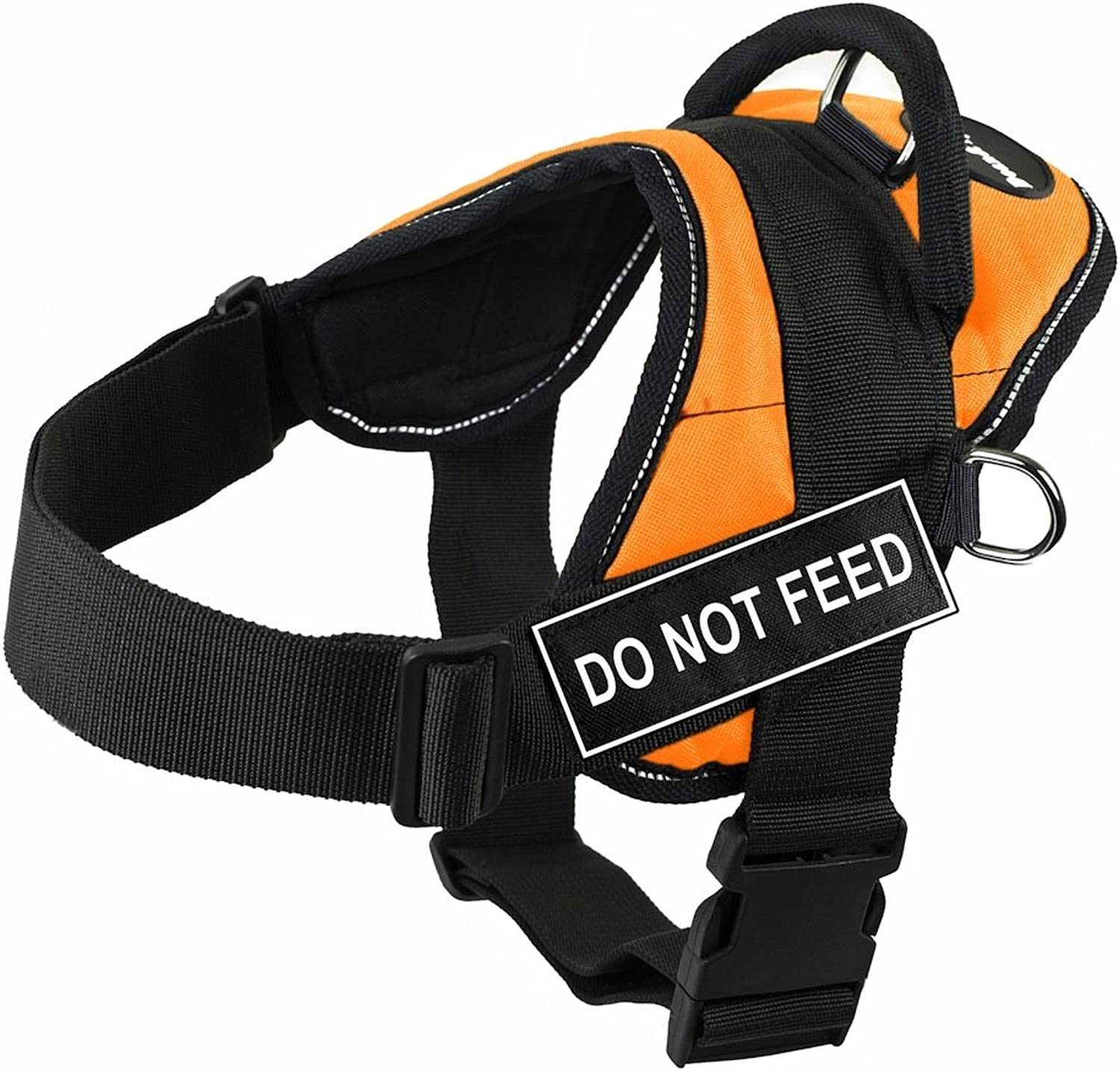 Dean & Tyler Fun Do Not Feed XSmall orange Harness with Reflective Trim