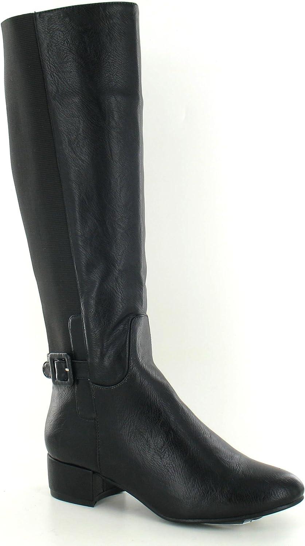 Spot On Womens Ladies Knee High Low Heel Boots