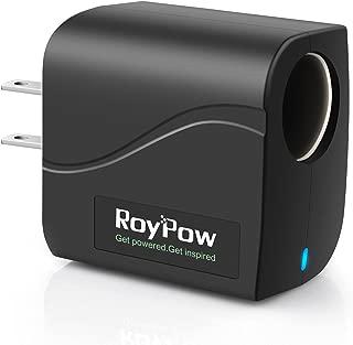 RoyPow Power Supply Converter Transformer 24W 12V2A AC to DC Adapter 110V/120V to 12V Car Cigarette Lighter Socket