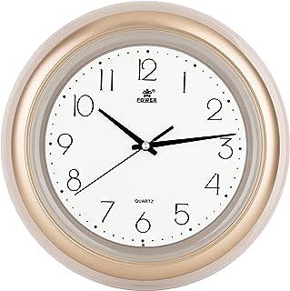 Laigoo 12 Inch Non-Ticking Silent Wall Clock Gold, Quartz Movement, Classic Round Retro Decorative Clock, Battery Operated...