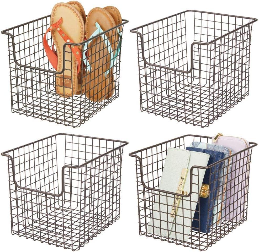 Manufacturer regenerated product mDesign Household Metal Wire Storage Basket Holder New color Bin Organizer