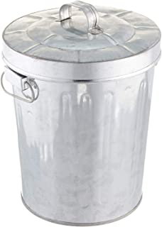 Kraft Klub, Inc. 7.5'' Galvanized Tin Waste Bin with Lid