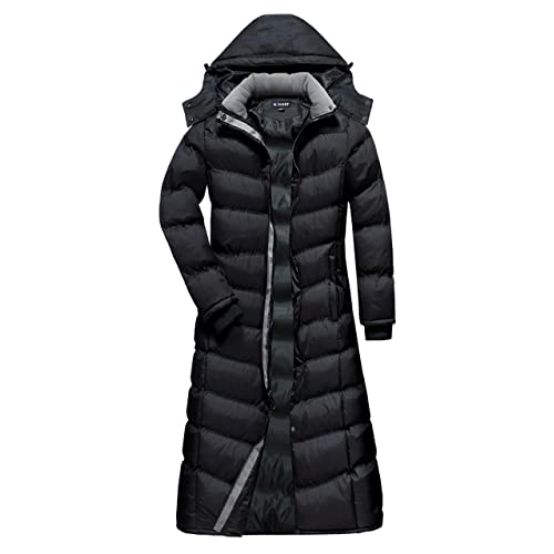 b62a1ef4edf U2Wear Women s Maxi Plus-Size Water Resistant Puffer Full Length Coat with  Hood