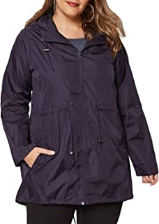 e5b09fe5d95 Eytino Women Plus Size Cozy Zip-Front Parka Jackets Hooded Coat Outwear  with Pockets(
