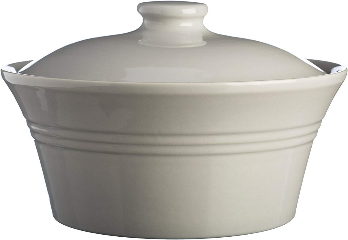 Mason Cash Classic Kitchen Casserole Dish With Lid Durable Stoneware Goes From Oven To Table 85 Fluid Ounces Dishwasher Microwave And Freezer Safe Grey