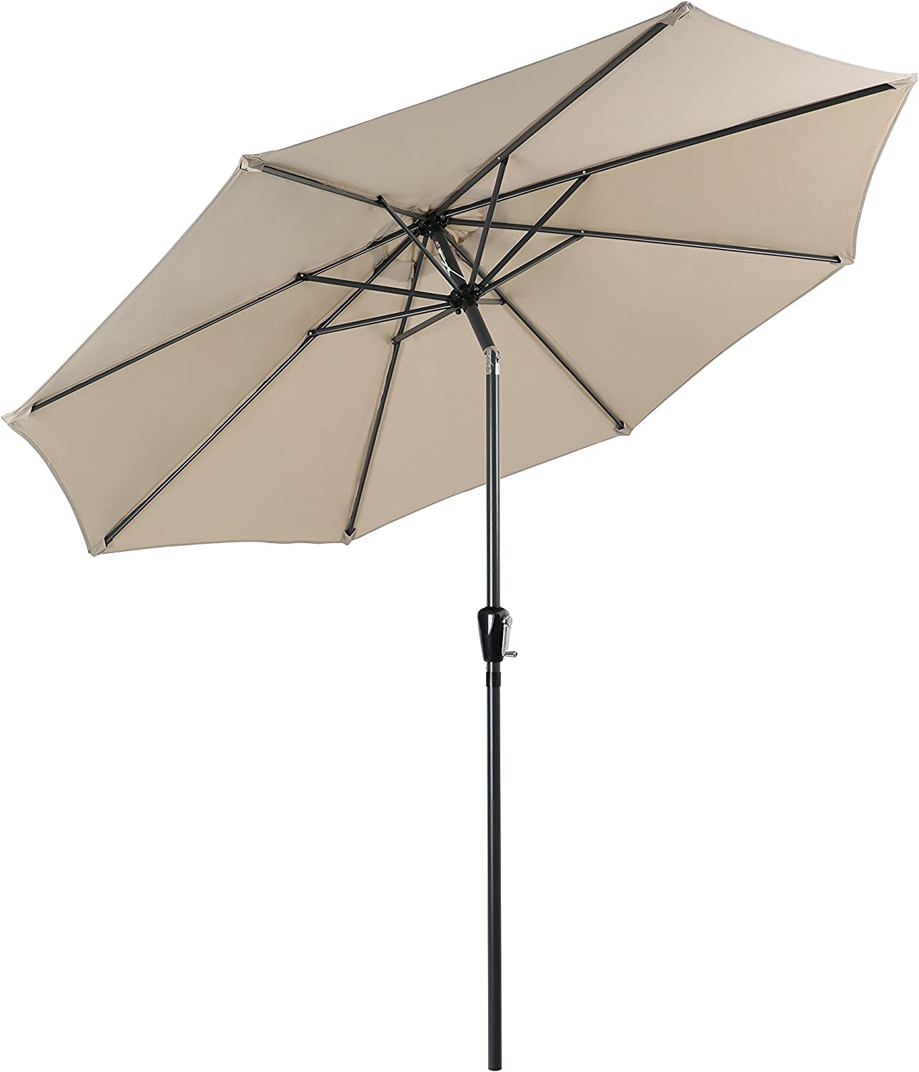 PHI VILLA 9 FT Patio Umbrella Push Button Table Large-scale Price reduction sale Ti with