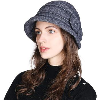 Fancet - Gorro de Lana para Mujer, Estilo Vintage, para Invierno ...