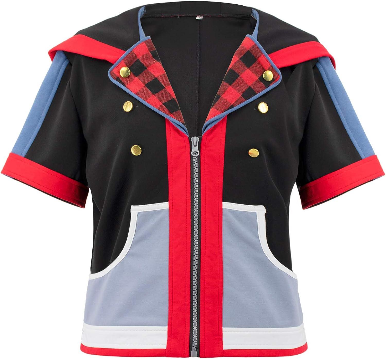 DAZCOS Mens Game KH3 Sora Costume Popular products Coat Hoodie Cosplay Financial sales sale
