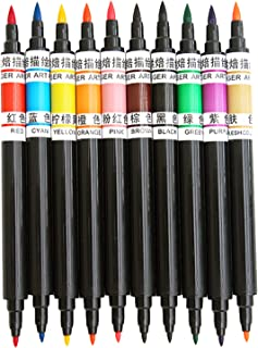 D DOLITY 10 Pcs Food Coloring Pens Dual Tips Food Grade Edible Marker for Decorating Fondant Cakes Frosting Thick Tip and ...