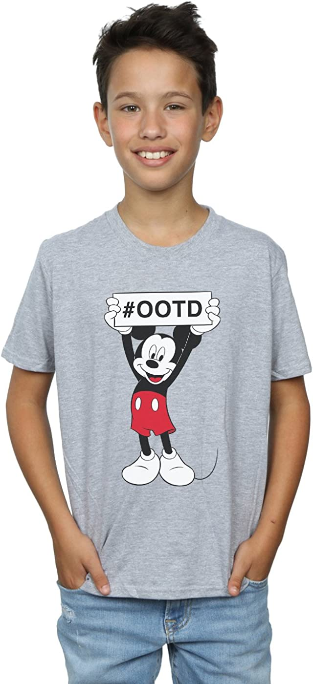 Disney Boys Mickey Mouse Outfit of The Day T-Shirt 9-11 Years Sport Grey