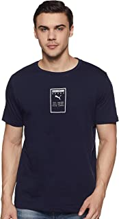 Puma Brand Placed Training Sport Top for Men - Navy XXL