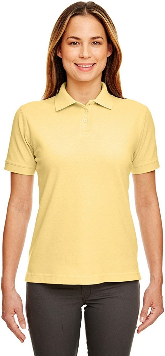 UltraClub 8530 Ladies Classic S-Sleeve Pique Polo Yellow Large