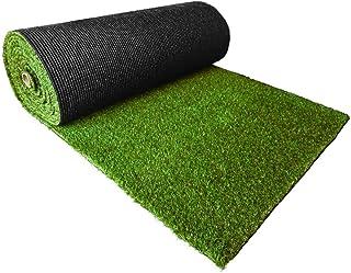 FIFA認定の工場生産、天然の芝を高品質、高密度でリアルに再現!【リアル人工芝20mm 1M×10M】紫外線、水の劣化に強いので長寿命!
