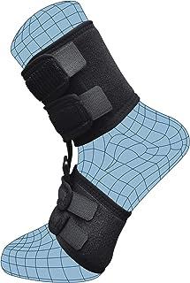 Férula de noche para fascitis plantar, soporte para el sueño para tendinitis de Aquiles, talón, caída de pies, tobillo, dolor de pie de arco, alivio del dolor, inserciones de flexibilidad dorsal