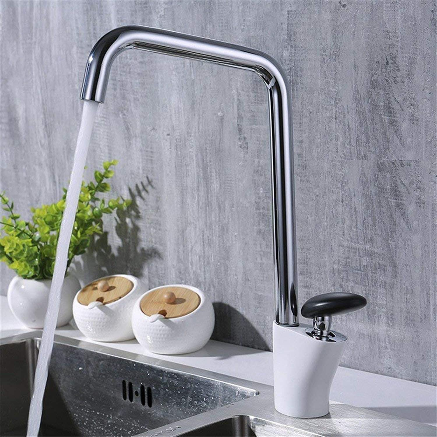 Oudan Chrome Copper Hot and Cold Basin Faucet 360 Degree redation Kitchen Bathroom Sink Faucet (color   -, Size   -)