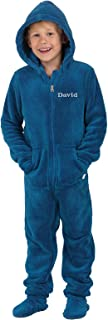 PajamaGram Big Boys' Hoodie-Footie Fleece Onesie Pajamas
