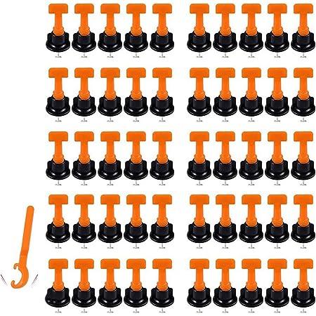 Tile Sistema Di Livellamento 100pcs Riutilizzabili Rivestimenti Leveler Distanziatori Per Piastrelle in Ceramica Strumenti Livellatore Regolatore Piano Costruzione Muro