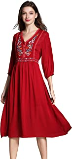 Best red mexican dress Reviews
