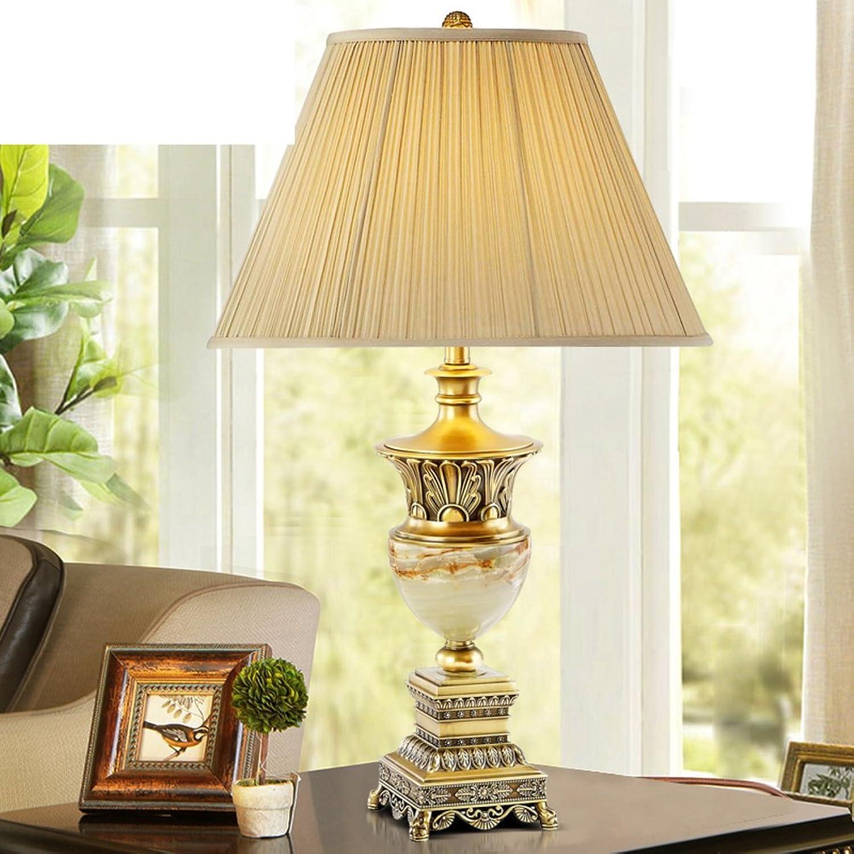 Amerikanische Schlafzimmer Tischleuchten Vintage Dekorative Tischleuchten Schlafzimmer Bett Lampe Europäisch,Living Room,Bronze,Tischleuchte Luxus Villa Marmor Lampe-A B071NX1SDF | Optimaler Preis