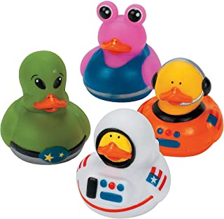 Fun Express - Astronaut/Space/Alien Ducks - Toys - Character Toys - Rubber Duckies - 12 Pieces
