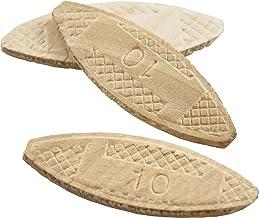 Wolfcraft 2922405 van #10 Gecomprimeerde Wafer Shaped Wood Biscuits voor het verbinden van houten stukken, 50 Stuks Tas va...