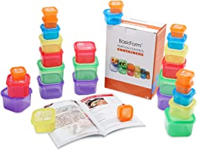BasicForm 21 Day Portion Control Containers 28 PCS with Recipe Book & Printable Daily Tracker, Labeled Meal Food Container...