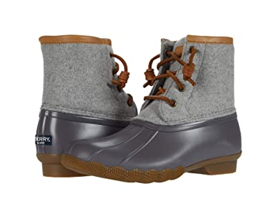 Sperry Kids Saltwater Wool (Little Kid/Big Kid) (Grey) Girl