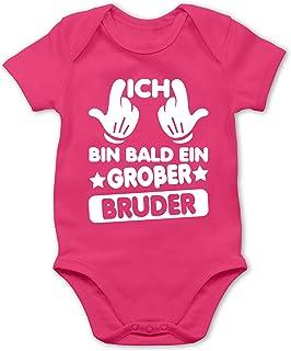 Shirtracer Ich bin Bald EIN großer Bruder - Baby Body Kurzarm für Jungen und Mädchen
