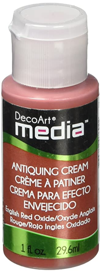 DecoArt Media Antiquing Cream, 1-Ounce, English Red Oxide