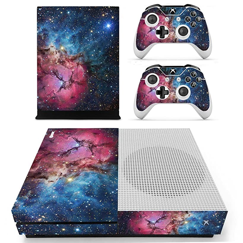 SKINOWN Skin Sticker Vinly Decal Cover for Xbox One Slim Red Cosmic Nebular
