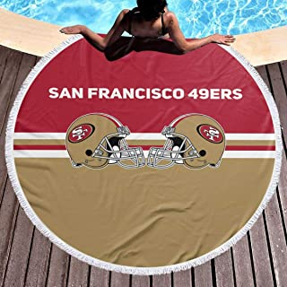 Kanteband San Francisco 49ers Round Soft Beach TowelAdult Quick Dry Towel for Gym Beach 59 in