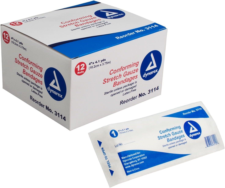 Stretch Gauze Bandages Sterile, 4