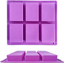 UG LAND INDIA Silicone Soap Mold 6 Cavities Rectangle Silicone Baking Mold DIY Handmade Soap Making, Muffin, Loaf, Brownie...