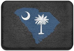 JFD Flag Map Of South Carolina Non-Skid Home Mat 60x40cm