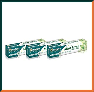 Himalaya Herbals Gum Expert Mint Fresh Herbal Toothpaste 75ml Plaque And Germ Removal Tooth and Decay Prevention. Paraben Free and Fluoride Free Toothpaste. 100% Vegetarian (SAVER PACK - Pack of 3)