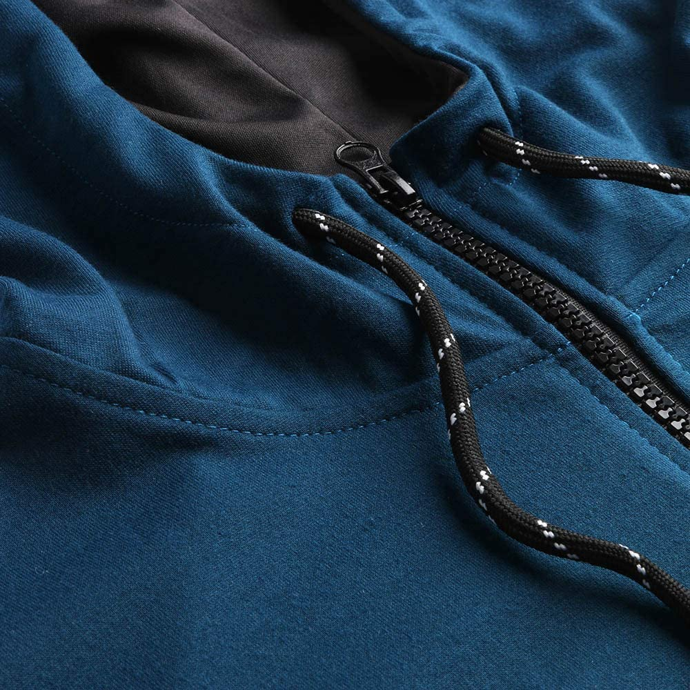 WUAI Mens Jogging Tracksuit Sportswear Casual Joggers Set Zipper Hoodie Sweatshirt+ Running Sweatpants