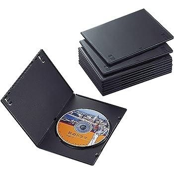 エレコム トールケース DVD BD 対応 スリム 1枚収納 10個セット CCD-DVDS03BK