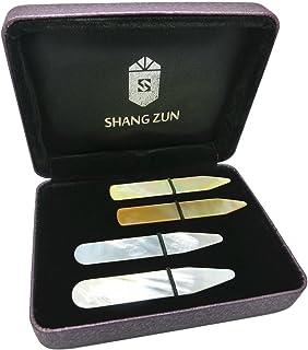 Shang Zun 30 Pcs Yellow Plastic Collar Stays in Clear Box 2.2