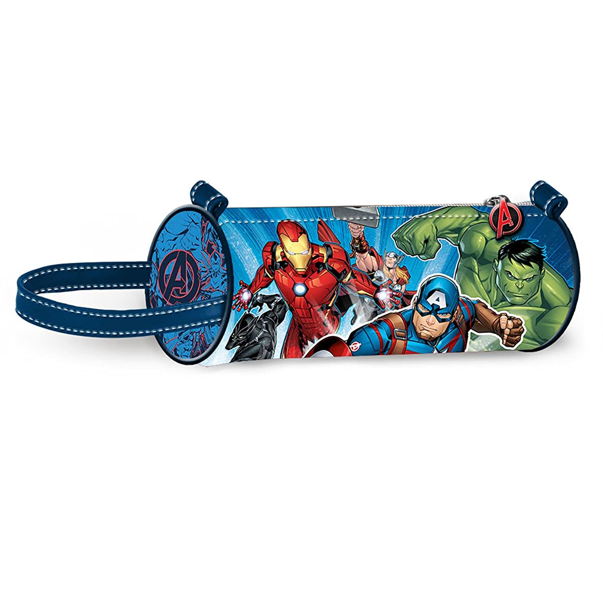 Karactermania The Avengers Powerful-Cylinder Pencil Cases, 22 cm, Blue
