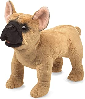Folkmanis French Bulldog Hand Puppet Plush, Light Brown/Dark Brown, 1 EA