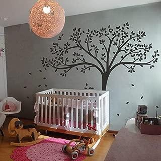 MairGwall Fall Tree Wall Decal Monochromatic Tree Decal Baby Nursery Wall Decor 78