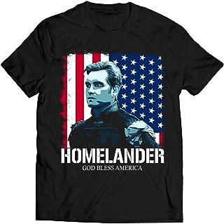 LeetGroupAU Homelander Lovers God Bless America T Shirt Boys Lovers Shirt