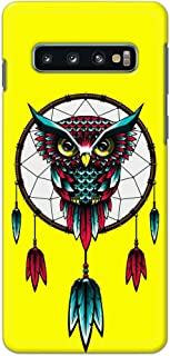 Samsung Galaxy S10 Animals Case Cover by ColorKing - Charm Owl Yellow
